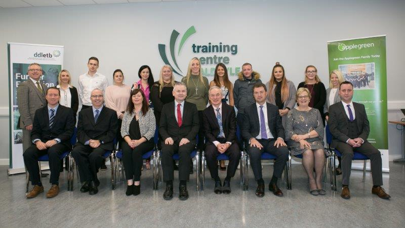Applegreen Staff With DDLETB CEO Paddy Lavelle And Minister For Education